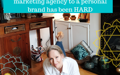 Transitioning from running a marketing agency to a personal brand has been HARD
